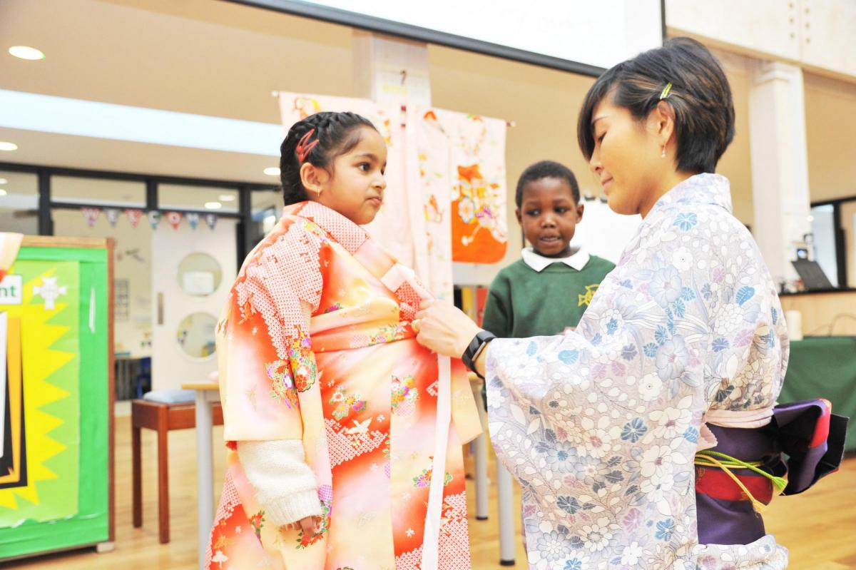 Japanese taster at Holy Cross Catholic Primary School, January 2017. From This Is Wiltshire.